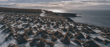 Paisaje islandés Grimsey Imagen de archivo libre de regalías