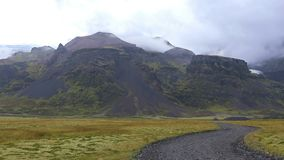 Paisaje islandés hermoso almacen de metraje de vídeo