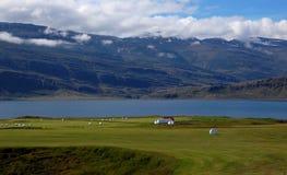 Paisaje islandés tradicional Imagen de archivo libre de regalías