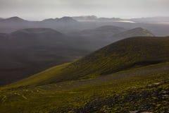 Paisaje islandés y cráteres Fotografía de archivo libre de regalías