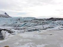 Paisaje Islandia de la laguna del hielo Fotos de archivo