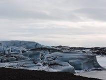 Paisaje Islandia de la laguna del hielo foto de archivo libre de regalías