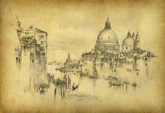 Paisaje italiano ilustración del vector