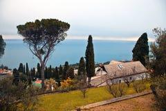 Paisaje italiano de Riviera Imágenes de archivo libres de regalías