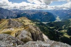 Paisaje italiano del norte de la montaña - alto el Adigio de Trentino Imagen de archivo