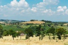 Paisaje italiano en Toscana fotos de archivo