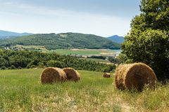 Paisaje italiano rural imagenes de archivo