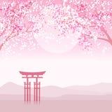 Paisaje japonés de la animación Imagen de archivo libre de regalías