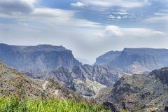 Paisaje Jebel Akhdar Omán foto de archivo libre de regalías