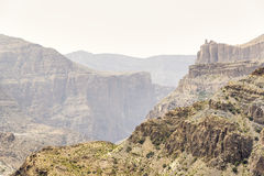 Paisaje Jebel Akhdar Omán Fotografía de archivo libre de regalías