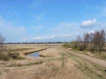 Paisaje lituano de la primavera Fotografía de archivo