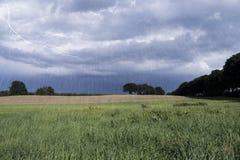 Paisaje lluvioso Fotos de archivo libres de regalías
