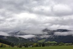 Paisaje lluvioso cerca de Nelson, ochenta y ocho valles, Nueva Zelanda fotos de archivo libres de regalías