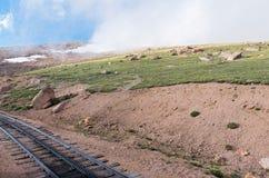 Paisaje a lo largo del ferrocarril de diente histórico Fotografía de archivo