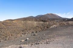 Paisaje lunar del monte Etna Foto de archivo libre de regalías
