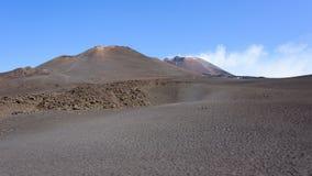 Paisaje lunar del monte Etna Fotos de archivo libres de regalías