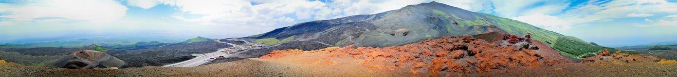 Paisaje lunar en los lados del monte Etna Imágenes de archivo libres de regalías