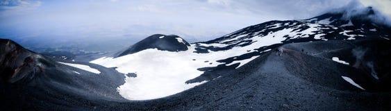 Paisaje lunar en los lados del monte Etna Imagen de archivo libre de regalías