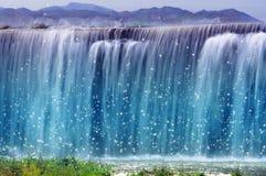 Paisaje mágico de la cascada Foto de archivo libre de regalías