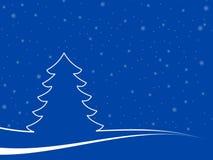Paisaje mínimo de la Navidad Fotografía de archivo libre de regalías