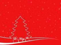 Paisaje mínimo de la Navidad con algunas cajas de regalo Foto de archivo libre de regalías