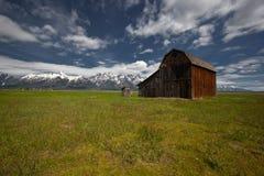 Paisaje magnífico del parque nacional de Tetons imagenes de archivo