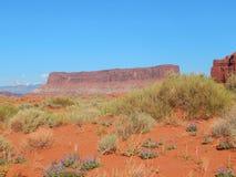 Paisaje majestuoso del desierto cerca de Moab Utah imágenes de archivo libres de regalías