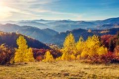 Paisaje majestuoso del otoño Imagen de archivo libre de regalías