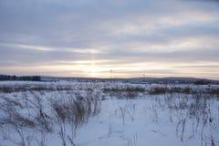 Paisaje maravilloso en el día de invierno foto de archivo
