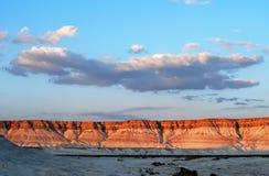 Paisaje marciano en Mangistau, Kazakhstan Fotos de archivo libres de regalías
