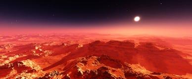 Paisaje marciano Panorama de Marte Fotos de archivo