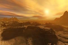 Paisaje marciano Panorama de Marte Imagen de archivo