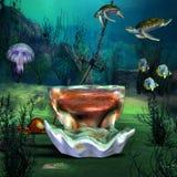 Paisaje marino libre illustration