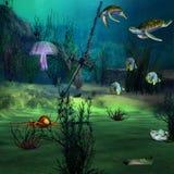 Paisaje marino stock de ilustración