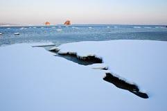 Paisaje marino 2 del invierno Fotos de archivo libres de regalías