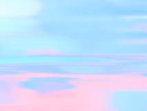 Paisaje marino abstracto del océano con el movimiento borroso Foto de archivo libre de regalías