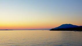 Paisaje marino adriático después de la puesta del sol Fotografía de archivo