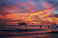 Paisaje marino ardiente Imagenes de archivo