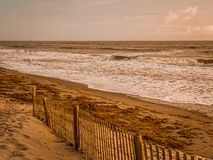 Paisaje marino artsy de una cerca del viento foto de archivo libre de regalías