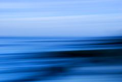 Paisaje marino azul Imagenes de archivo