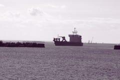 Paisaje marino blanco y negro imágenes de archivo libres de regalías
