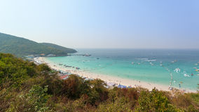 Paisaje marino ciudad de la isla del larn de la KOH, pattaya, Tailandia Fotos de archivo libres de regalías