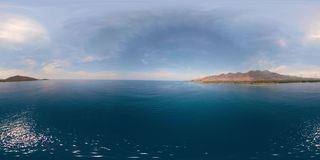 Paisaje marino con la playa vr360 metrajes