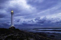 Paisaje marino con la tormenta Foto de archivo