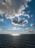Paisaje marino con las nubes Imagen de archivo libre de regalías