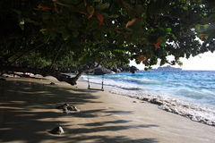 Paisaje marino con las ondas azules Foto de archivo libre de regalías