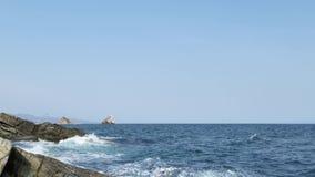 Paisaje marino con las ondas Belleza de la naturaleza metrajes