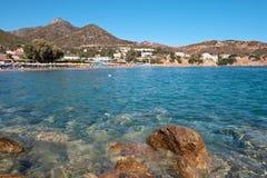 Paisaje marino. Crete foto de archivo