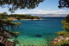 Paisaje marino croata Fotografía de archivo libre de regalías
