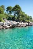 Paisaje marino de Adriático de la claridad Fotos de archivo libres de regalías